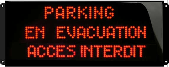Parking en evacuation acces interdit